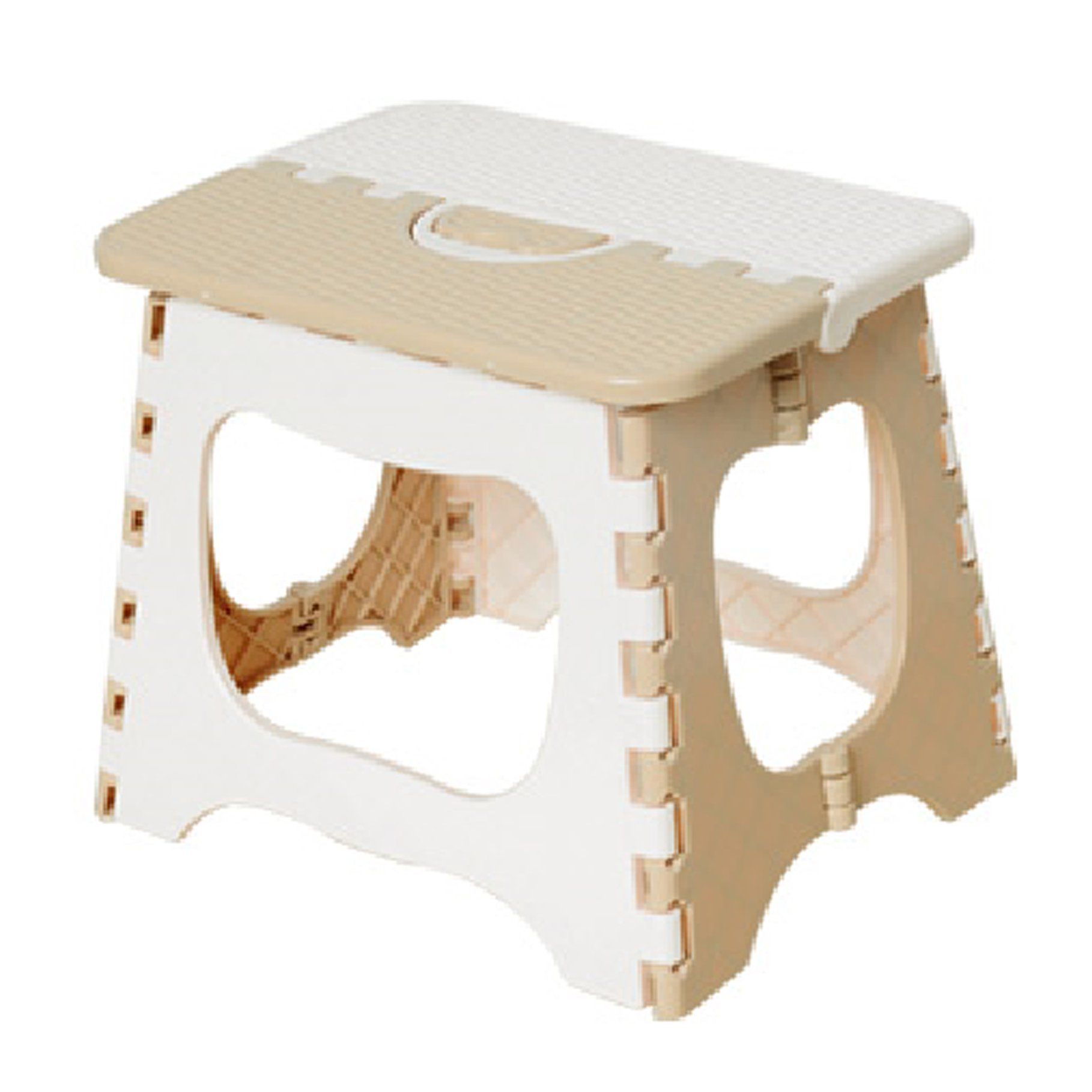 YIUHART Foldable Step Stool for Adults and Kids (Beige)
