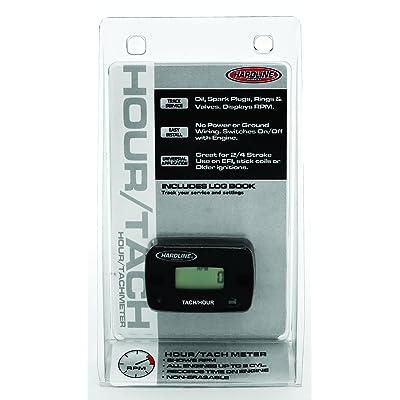 Hardline Products HR-8061-2 Hour Meter/Tachometer for up to 2-Cylinder Engines,Black: Automotive