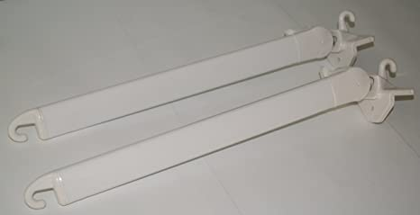 Bracci Tende Da Sole.Coppia Braccetti Per Tende Da Sole Anticaduta Security 50 Cm Bianco