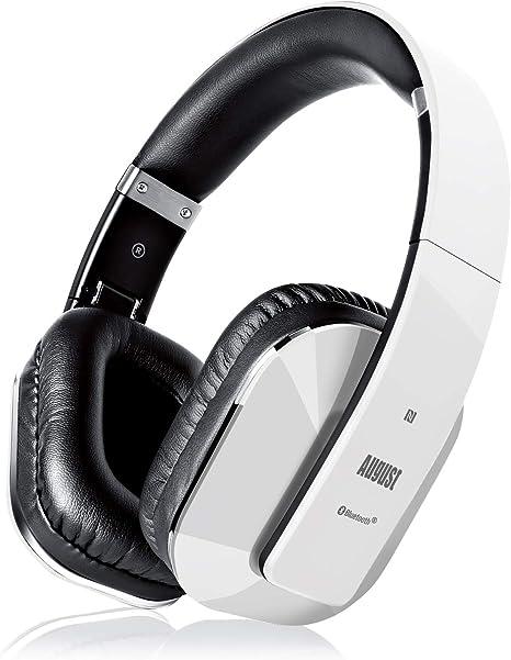August Ep650 Wireless Bluetooth Headphones White Amazon Co Uk Electronics