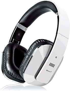 Cascos Inalámbrico con aptX Baja Latencia, Auriculares Bluetooth de Diadema Plegable August EP650 con Micrófono, NFC Auriculares Estéreo Inalámbricos para TV, Móvil, PC: Amazon.es: Electrónica