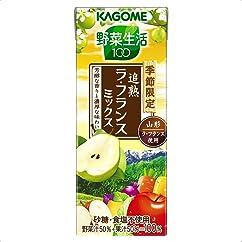 【ドリンクの新商品】カゴメ 野菜生活100 追熟ラ・フランスミックス 195ml×24本