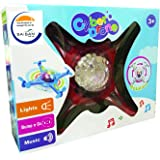 SAISAN Big Size Musical Plane with LED Lights Swirls Bump and Go Action for Kid (Multicolor)