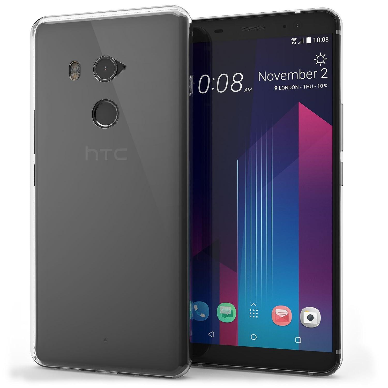 Amazon.com: HTC U11 Plus Case, By Caseflex - Scratch Resistant - Ultra Slim & Lightweight - NO Bulkiness - TPU Gel Soft Thin Silicone Back Cover - Crystal ...
