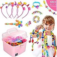 Ucradle Pop Beads, 550pcs Niños Bricolaje Joyería Snap