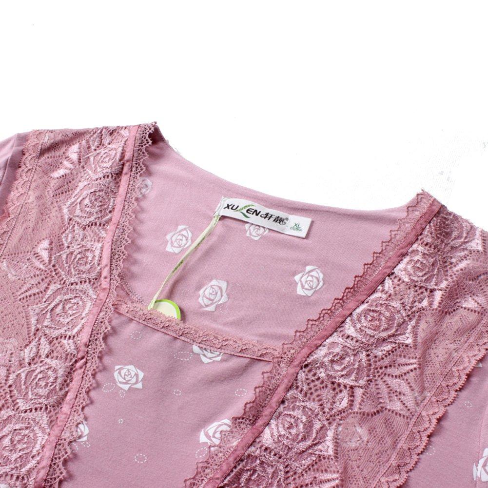 Camisón De Manga Corta Mujer, Verano Capital Edad Media Ropa De Dormir Sección delgadasleep Vestido: Amazon.es: Ropa y accesorios