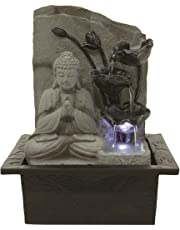 Chianna Tranquil Buddha Lit Table Top Indoor Water Feature Ideal for Feng Shui