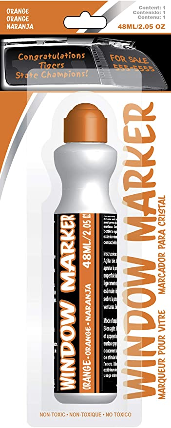 Chroma 000142 Orange Window Markerz - 2.05 oz.
