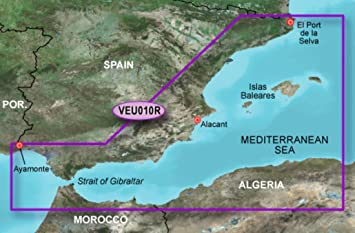 Garmin BlueChart veu010r – España, Costa mediterránea Mapas 010-c0768 – 00: Amazon.es: Electrónica
