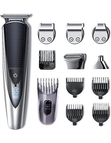 1b14e63ef15 Hatteker Tondeuse Barbe Rasage Tondeuse Cheveux Tondeuse pour Poils du Corps  Electrique Hommes Rasoir Enlever Poils