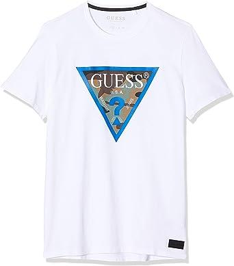 Guess Cn SS Camou Pack tee Camiseta para Hombre: Amazon.es: Ropa y accesorios