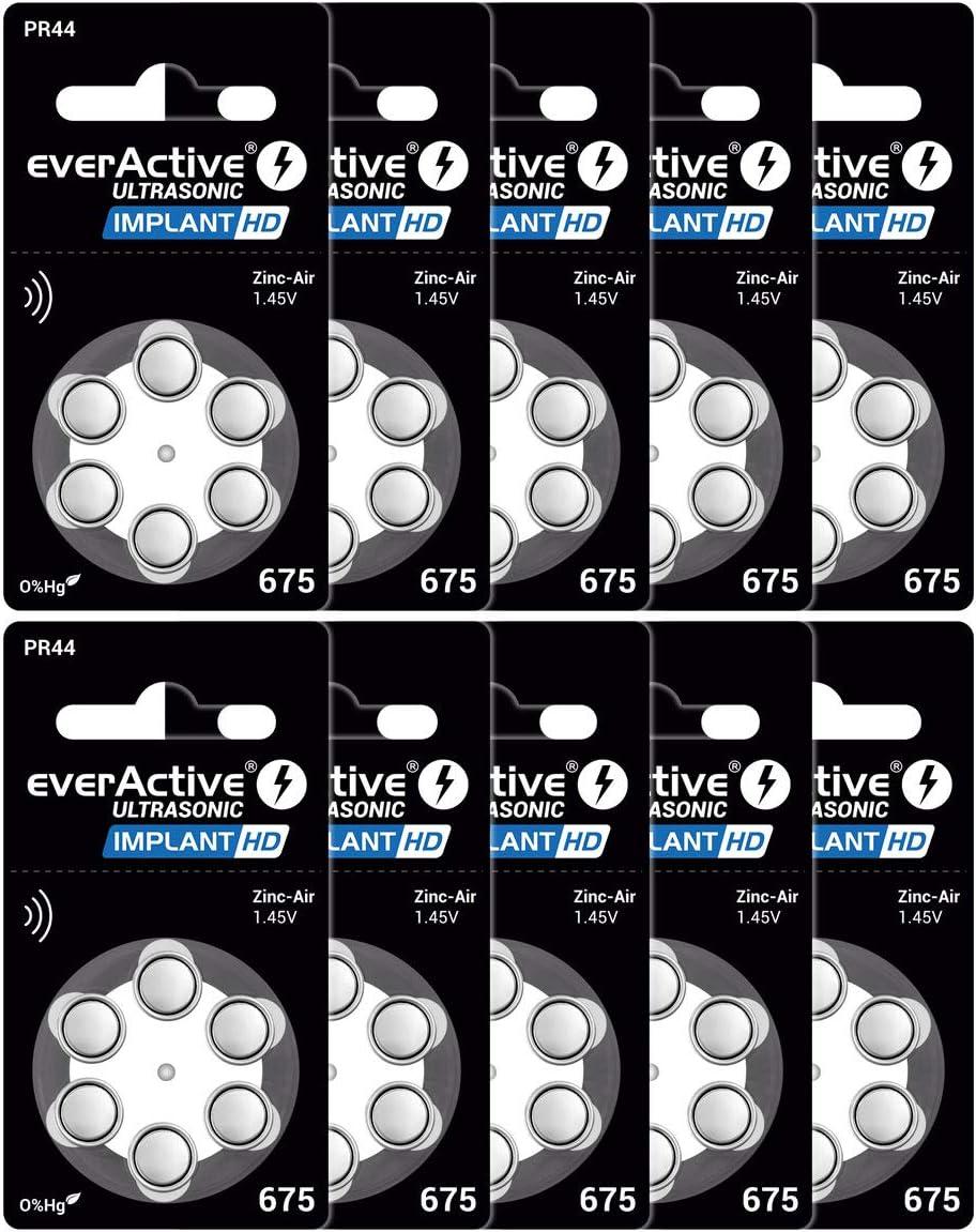 Everactive 675 60 Stück Hörgerätebatterien Hohe Elektronik