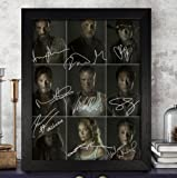 The Walking Dead Signed Autographed Photo 8X10 Reprint Rp Pp - Norman Reedus, Andrew Lincoln, Lauren Cohan, Danai Gurira…