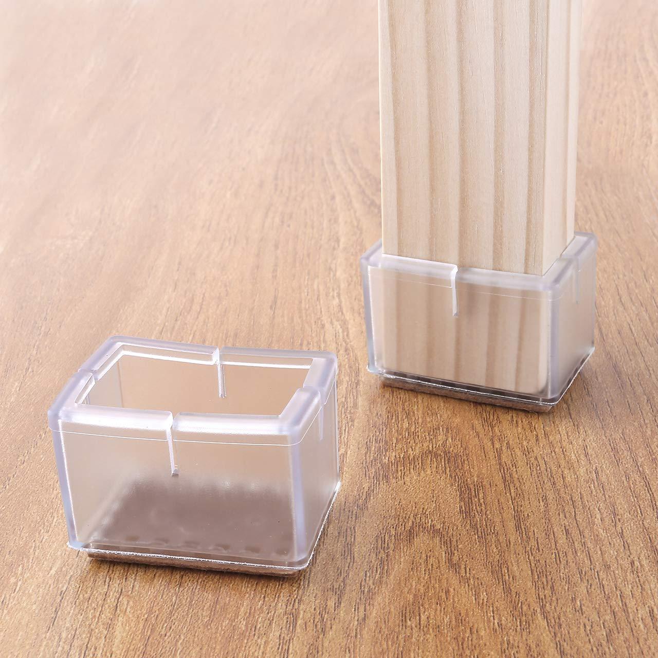 Protecteurs pour pieds de chaise couvertures pour pieds de chaise//fauteuil Mogoko protections de meubles beige 16 PCS