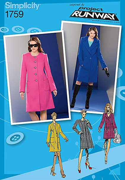 Amazon Simplicity 1759 Misses Coat Project Runway Collection
