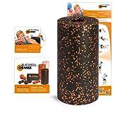 Blackroll Orange (Das Original) - Faszienrolle inkl. Übungs-DVD, Übungsposter & Booklet. Die Massagerolle für die Faszien, auch Foam Roller, Gymnastikrolle, Fitnessrolle genannt, zur Selbstmassage und Behandlung des Bindegewebes. Qualität Made in Germany