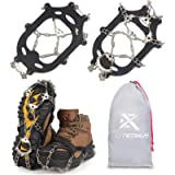 Extremus 23-Spike Ice Cleats, Crampons for Men or Women, Abrasion Resistant 201 Stainless Steel, 23 Individual Spikes On…