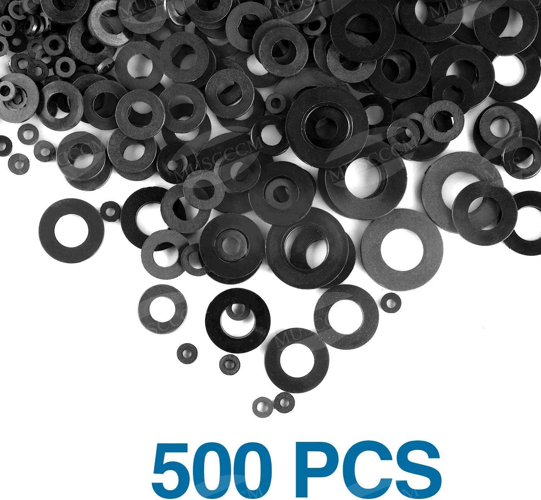 250 Pcs 6 Sizes Copper Metric Sealing Washers Assortment Set MUSCCCM Flat Washer