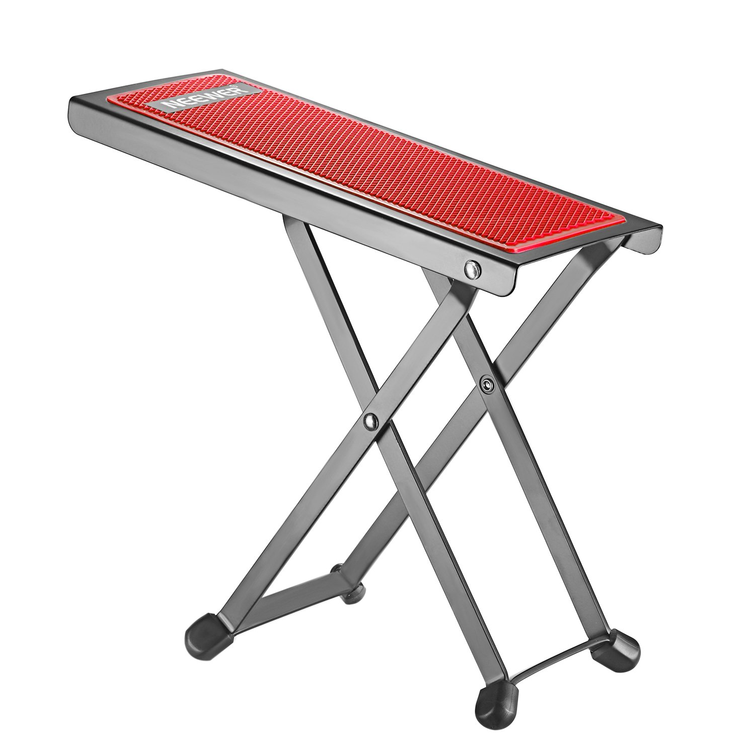 Neewer NW001 Adjustable Guitar Foot Stool, Sturdy Solid Iron Pedal Rest with 4 Fixed Height Positions Non-slip Rubber End Caps and Pad for Classical Flamenco Acoustic or Electric Guitar Players(Blue) 40089307