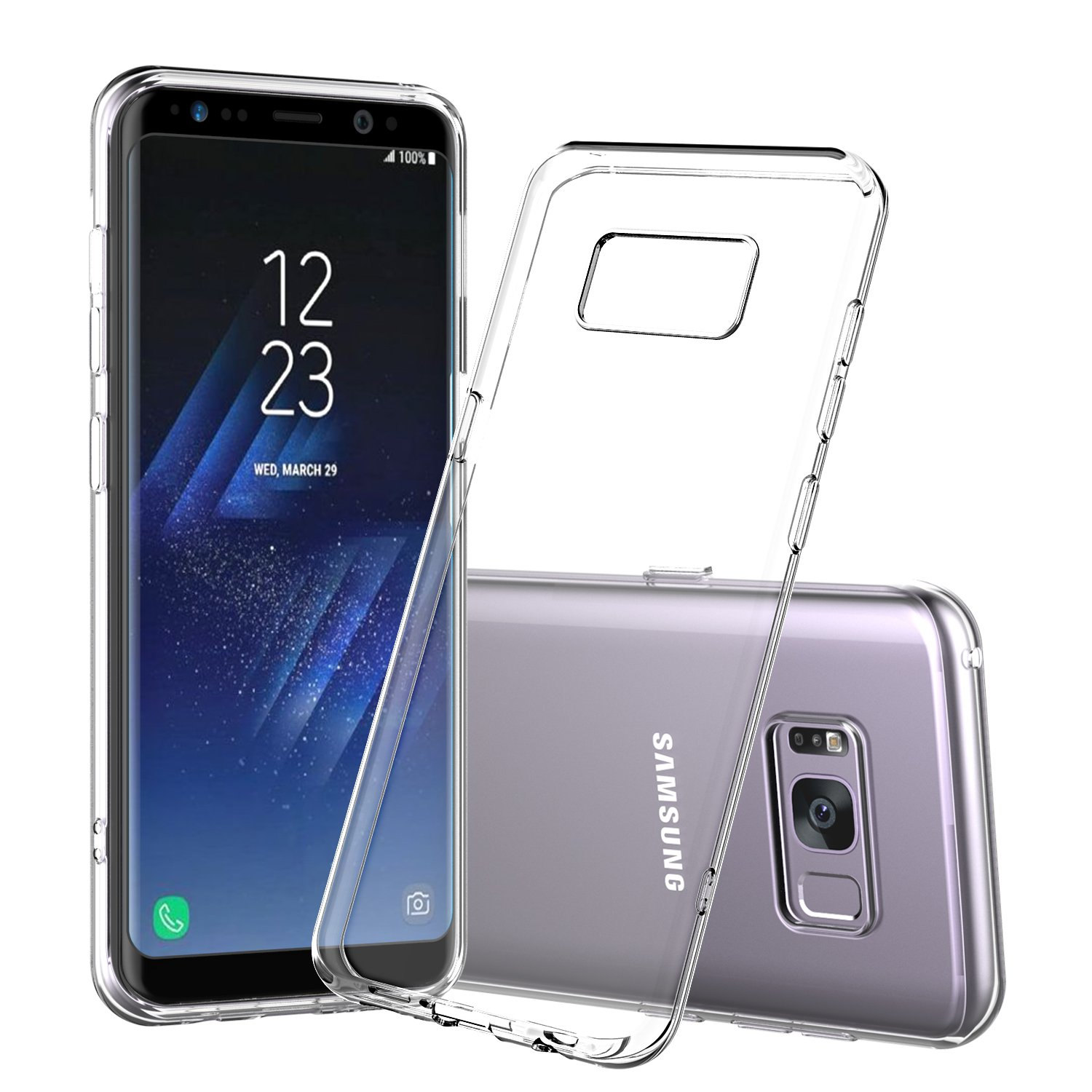 for Galaxy S8 Plus Case Shamo s [Crystal Clear] Samsung Galaxy S8 Case [Shock Absorption] Cover TPU Rubber Gel [Anti Scratch] Transparent Clear Back Case