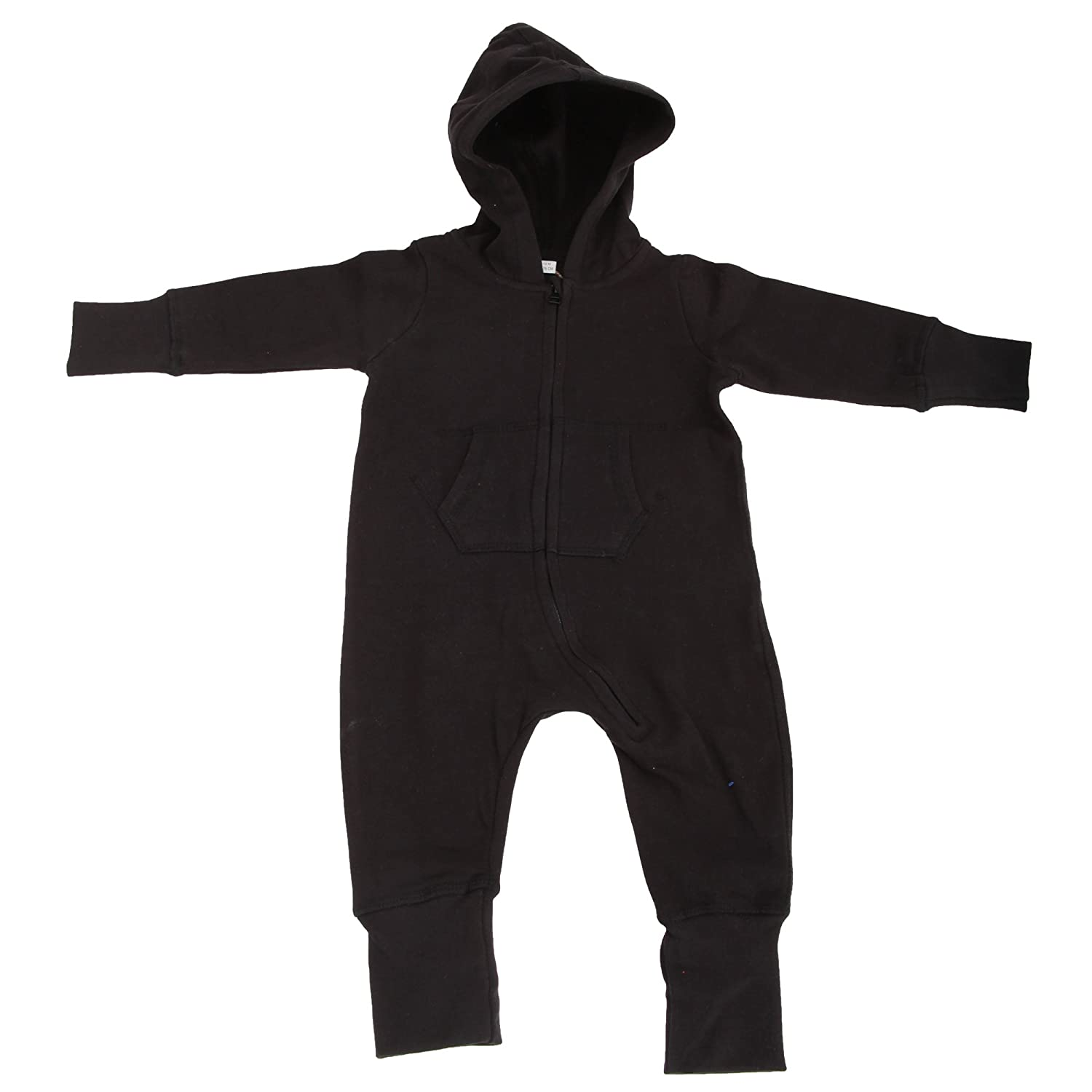 Babybugz Plain Baby All In One / Sleepsuit (6-12) (Black) UTBC2523_5