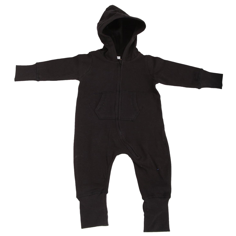 Babybugz Plain Baby All In One / Sleepsuit (6-12) (Black) UTBC2523_5