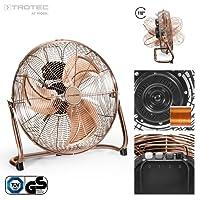 TROTEC TVM 17 Bodenventilator Kupfer Design Ventilator/Windmaschine | 3 Geschwindigkeitsstufen | 100 Watt Leistung | Durchmesser 45 cm