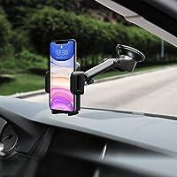 Mpow Soporte Coche Movil, Salpicadero/Parabrisas Porta Movil para Coche con Rotación de 360°, Universal Soporte Telefono…