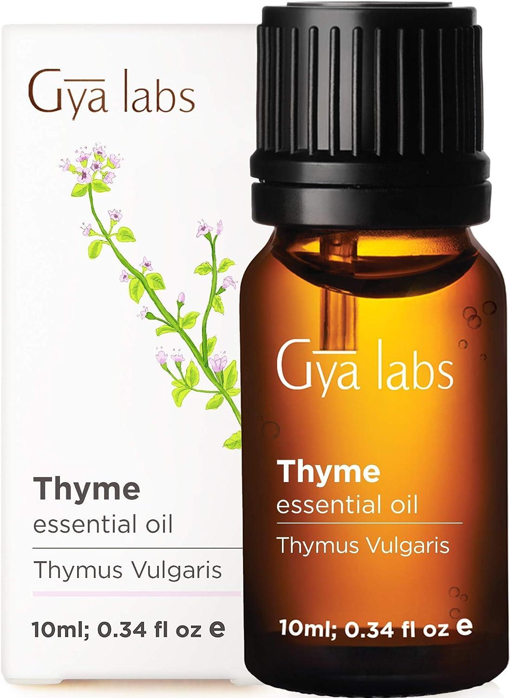 Aceite esencial de tomillo - Aliento fresco de alivio calmante para dificultades respiratorias (10 ml) - Aceite de tomillo de grado terapéutico 100% puro