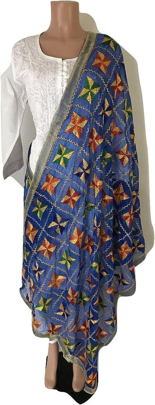 IBC Punjabi Dupatta Phulkari Work Women Scarf Perfect Match for any Dress