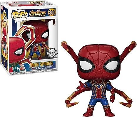FunKo Películas Pop Avengers Infinity War Iron Spider with Legs Vinyl + Pop Protector: Amazon.es: Juguetes y juegos