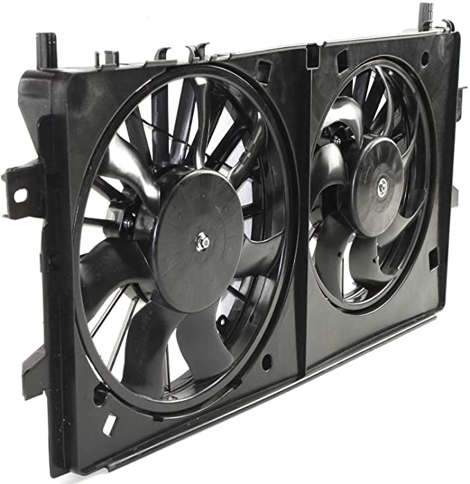 Police Dual Radiator and Condenser Cooling Fan For 2006-2013 Chevrolet Impala