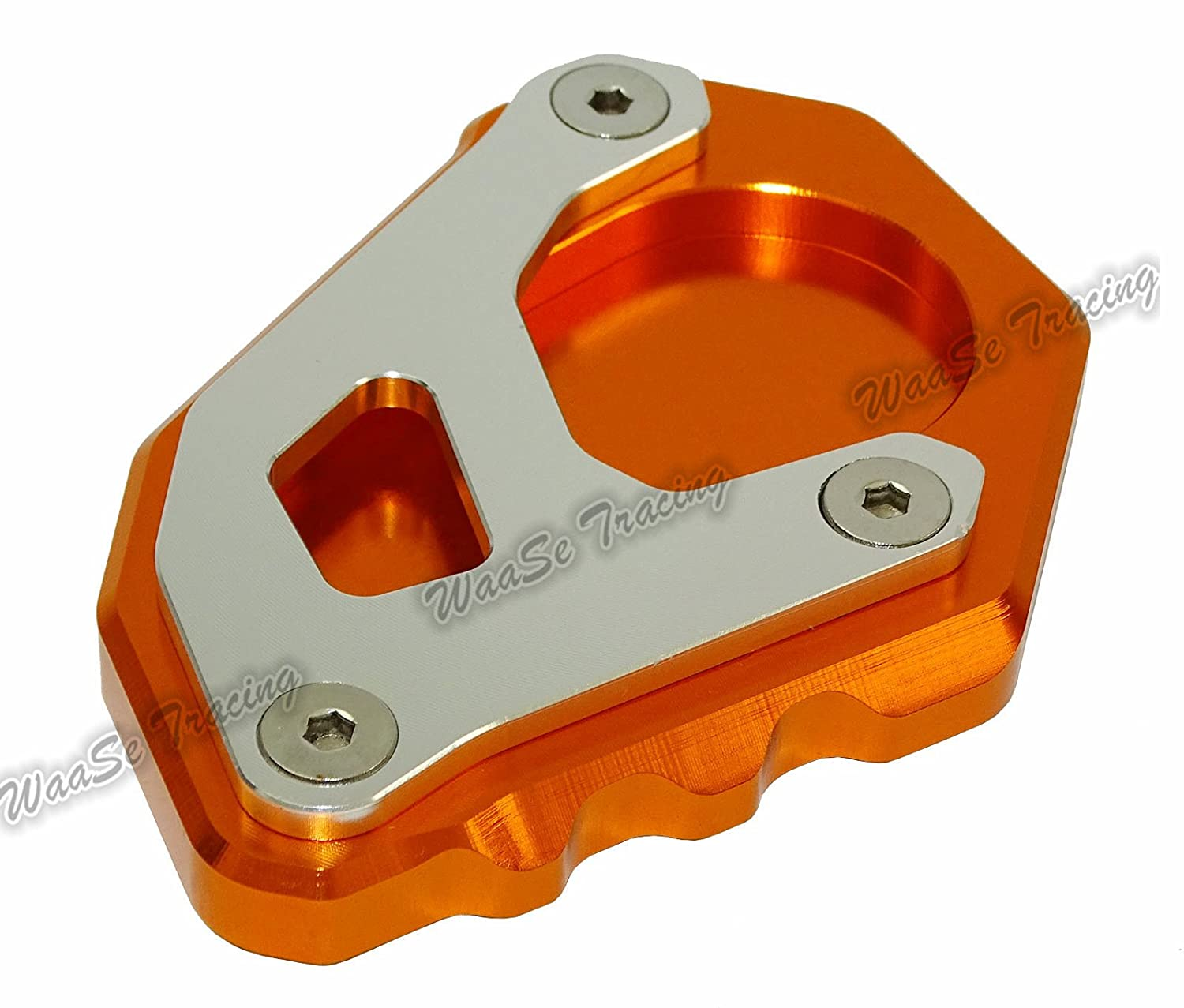 Type-1 waase Motorcycle Kickstand Foot Side Stand Extension Pad Support Plate For KTM 1050 1090 1190 1290 Adventure