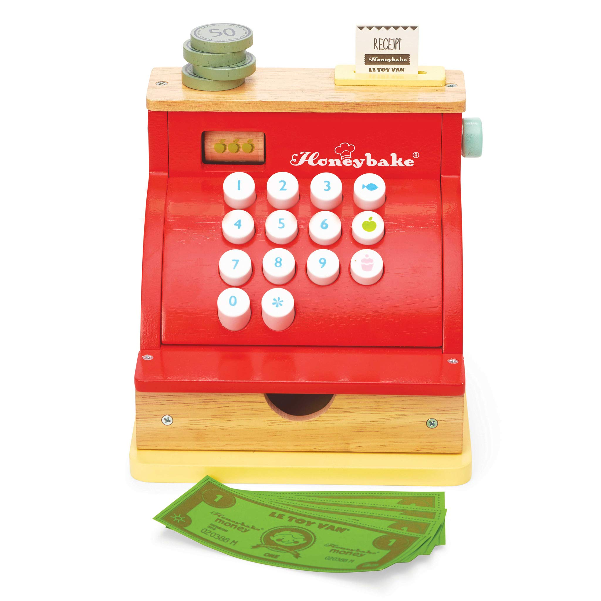 Letterland Le Toy Van Honeyback Collection Red Cash Register Premium Wooden Toys for Kids Ages 3 Years & Up by Letterland (Image #2)