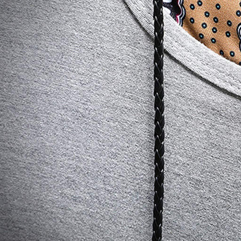 Bcfuda Camicetta Top T-Shirt Manica Corta con Scollo Tinta Unita Colore Solido Moda Casual da Uomo Maglie Maniche Lunga Collo V Camicie Estiva Casuale Maglietta Uomini Tumblr Tees Sportivi Tops