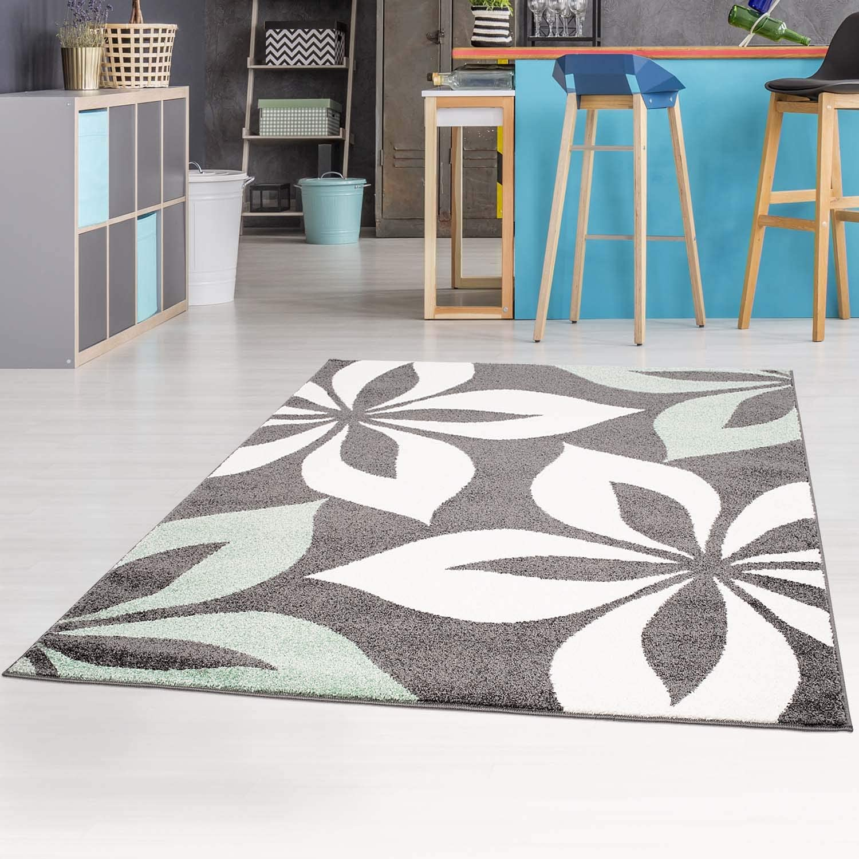 80x150 cm Teppich-L/äufer Modern Moda Flachflor Kurzflor Konturenschnitt Handcarving Meliert Rot f/ür Wohnzimmer; Gr/ö/ße
