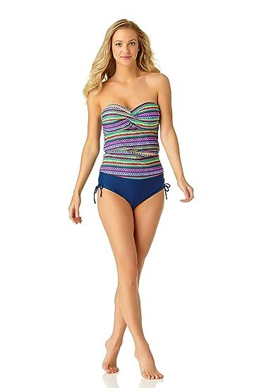 e0a6569905e3 Catalina Twist Front Bandeau Tankini - Bañador para Mujer: Amazon ...