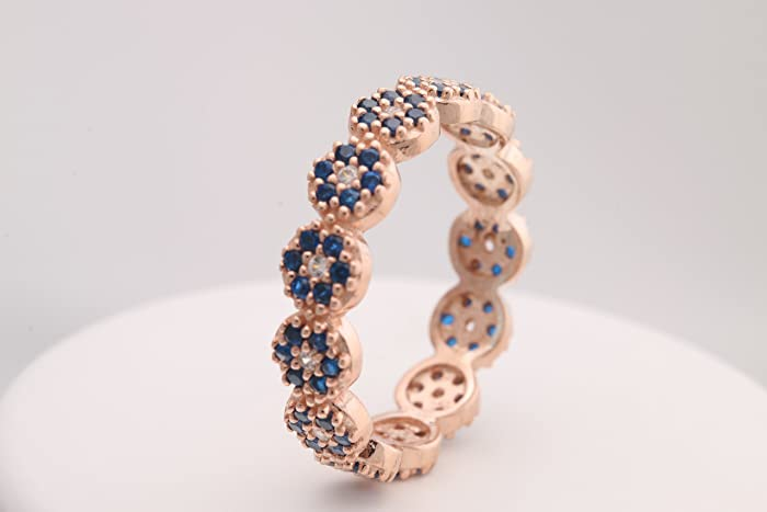 Amazon.com  Nazar ! Turkish Handmade Jewelry Evil Eye Sapphire Topaz ... f1d9dc06b7bc