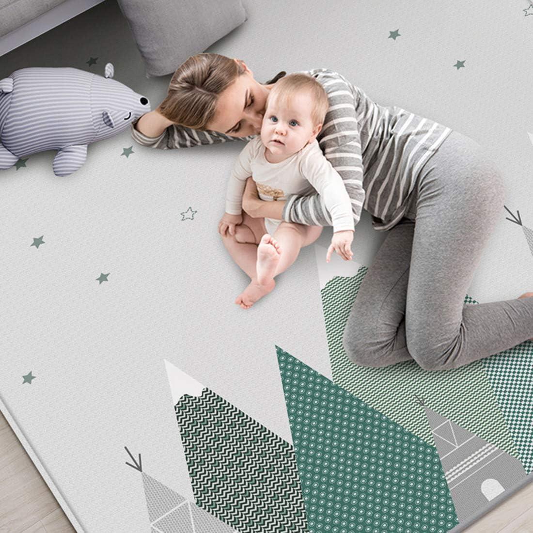 GANADA Tapis de Sol Tapis Jeu pour B/éb/é Tapis de Jeu XXXL pour Enfant Rampe Tapis en Soie XPE Imperm/éable 200 x 180 x 1 cm