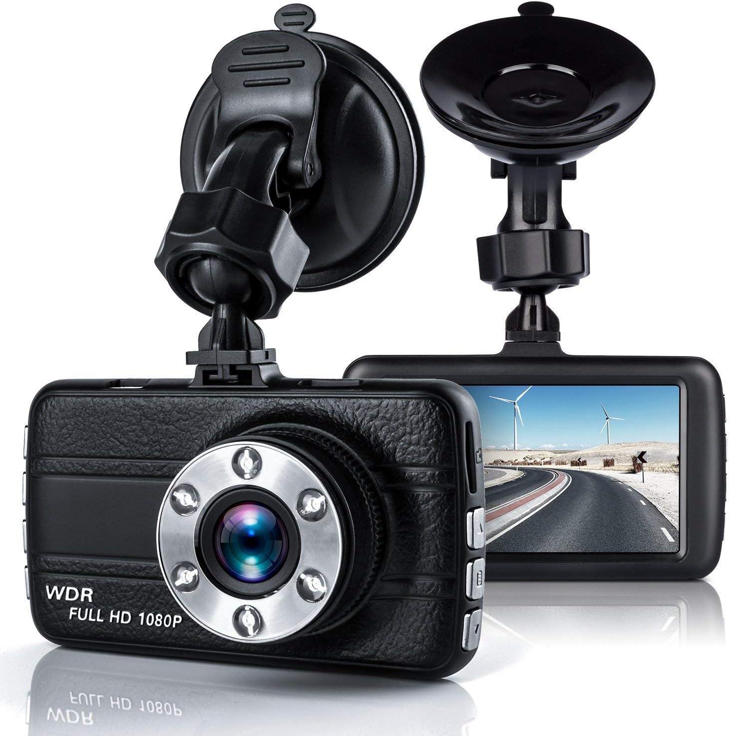 "Dash Cam, EZone Car Dashboard Camera 3.0"" Full HD 1080P DVR Dash Camera 170 Degree Wide Angle On-Dash Camcorder with Night Vision Display"