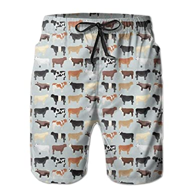 5f7770be19 Amazon.com: PTYHR Summer Swim Trunks, Men Surfing Beach Board Shorts, Waist  Drawstring Quick Dry: Clothing
