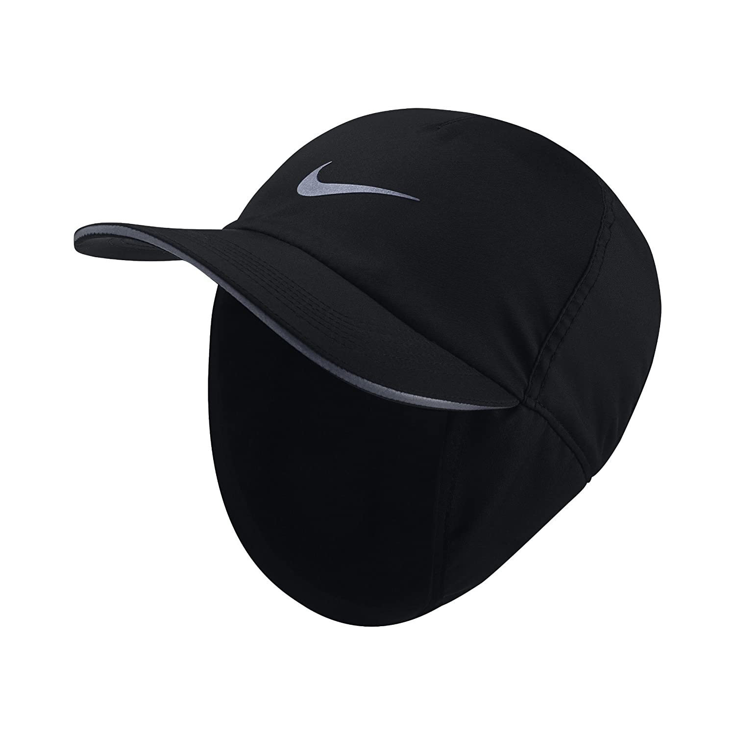 Amazon.com: Nike Mens Aerobill H86 Earflap Running Hat Black/Black  876528-010: Sports & Outdoors