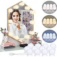 luces de espejo de tocador – 12 bombillas Hollywood Kit de DIY maquillaje LED luces…