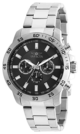 Invicta Mens 21502 Specialty Analog Display Swiss Quartz Silver-Tone Watch