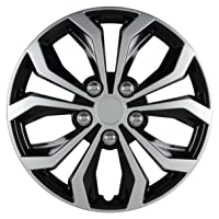 Deals on 4-PK Pilot Automotive WH553-15S-BS Universal Fit Spyder Wheel Cover