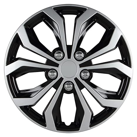 Pilot Automotive WH553-15S-BS Spyder 15 Performance Wheel Cover, Two Tone Black