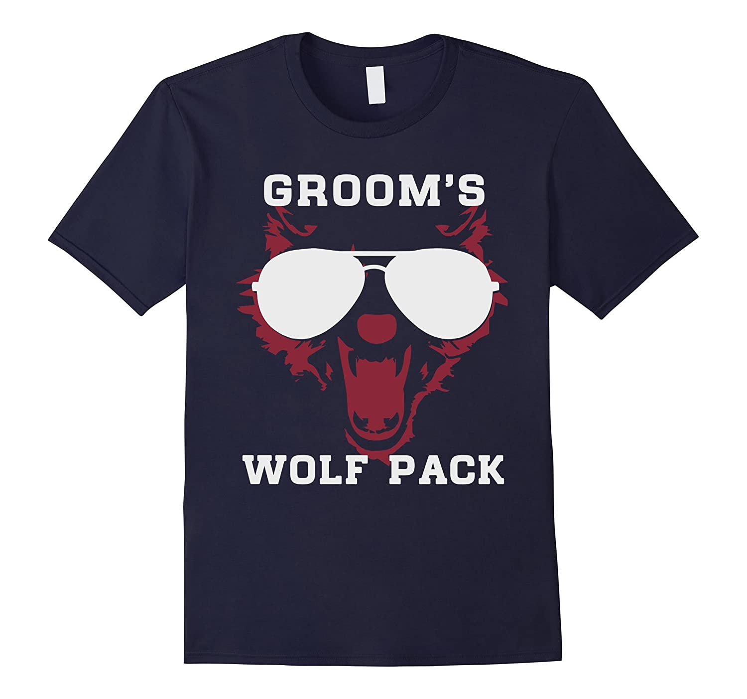 Grooms wolf pack wild bachelor party gift t-shirts for men-TD