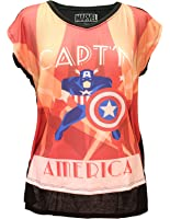 Her Universe Womens Marvel Captain America Deco Vera Neck Tee