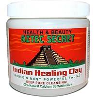 Aztec Secret Indian Healing Clay 1lb Deep Pore Cleansing Facial & Body Mask Version-1, 1.25 Pounds