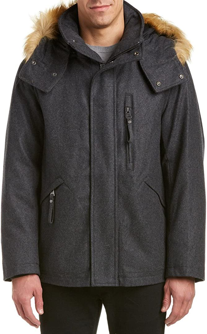Faux Down Filled Bomber Marc New York by Andrew Marc Mens Fremont Pressed Wool
